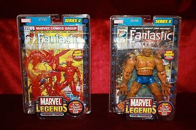 Marvel Legends Series 2 Two -  Human Torch  and The Thing New Sealed MOC