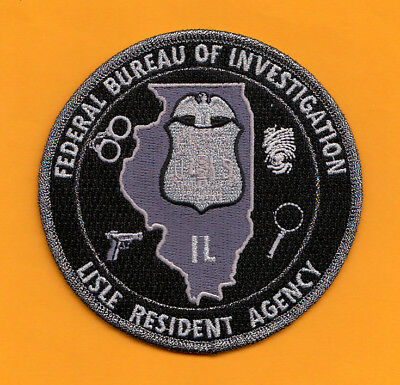 D14 *#2 Gman Fbi Chicago Lisle Illinois Ra Office Federal Police Patch Atf Silve