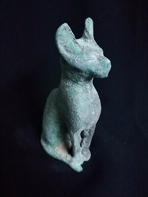 Rare Ancient Egyptian Bronze Statue of Bastet  (945–715 BC)