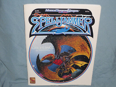 AD&D 2nd Ed SPELLJAMMER Accessory: SJR6 GREYSPACE (Hard Find and Nice Shape!)