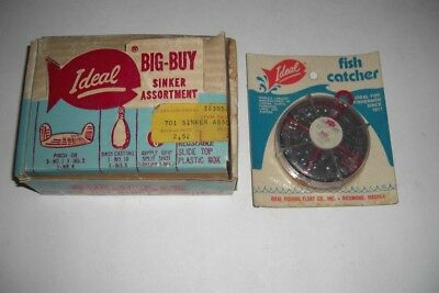 Dealer display box of sinker assortment by Ideal Fishing Float of Virginia