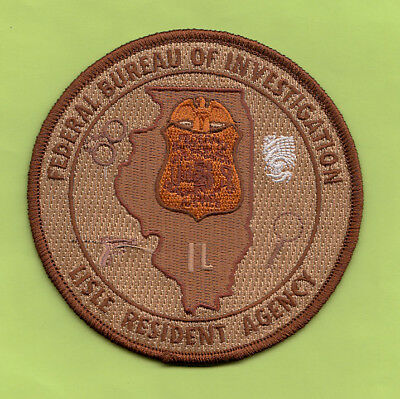 D16 *#4 Fbi Chicago Lisle Illinois Ra Office Federal Police Patch Atf Tan Brown