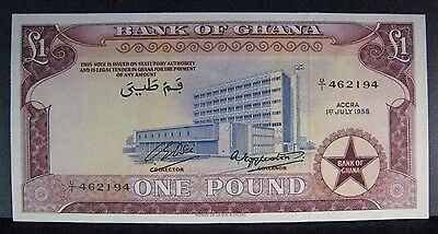1958 Ghana, Bank of L1 One Pound High Grade         ** FREE U.S SHIPPING **
