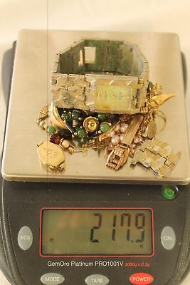 217 Grams, Mixed Lot of Gold Filled, Rolled, Plated Jewelry, Watch, Scrap/Wear.
