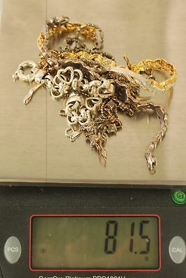 81 Grams, 12 Bracelets, Silver, 925, Sterling, Jewelry, Scrap, Wear.