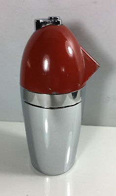 Norman Bel Geddes Red Soda King Syphon Seltzer Bottle Cocktail Shaker 1938