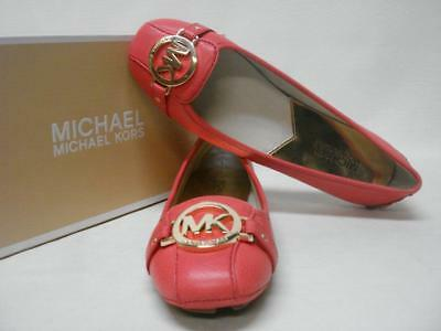 $99 Michael By *michael Kors*fulton Moccasin Leather Flats Watermelon 6.5M