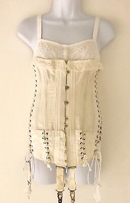 Antique Edwardian Maternity/Pregnancy Corset. 1900's. Small-Medium