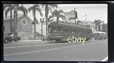 "original 1948 2 3/8"" x 4"" Negative - Pacific Electric 741 Hollyood Blvd"