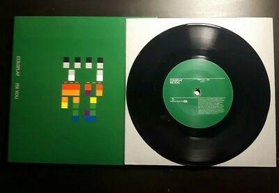 Coldplay 7' Vinyl Single Record - Fix You, The World Turned Upside Down