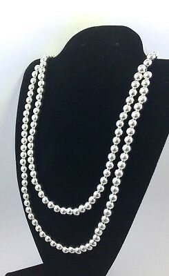 Southwest Silver Bead Necklace Handcrafted No Reserve *G32