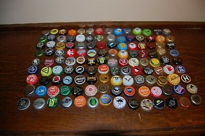 126 Different Craft Brewery Used Beer Bottle Caps