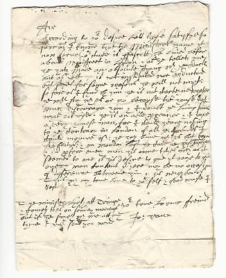 1672 English Letter Penned On An Old Invoice London