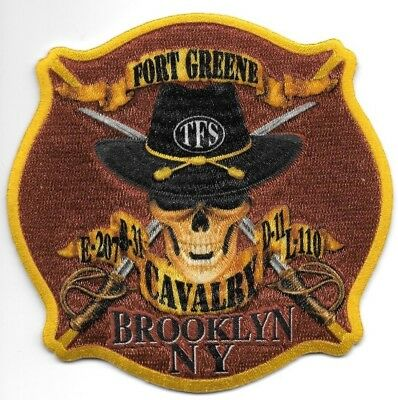 FDNY  Engine 207 / Ladder 110  fire department patch  Cavalry - Ft. Greene