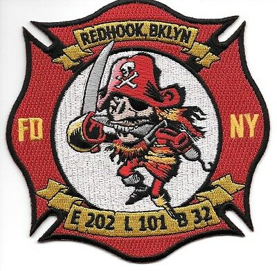 FDNY  Engine 202 / Ladder 101 / Battalion 32  fire department patch  Redhook