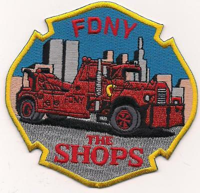 FDNY  THE SHOPS  fire department patch