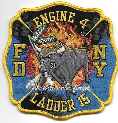 FDNY  Engine 4 / Ladder 15  fire department patch  Wall Street