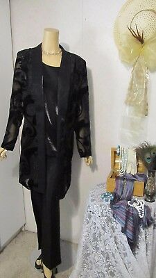 Mother Of The Bride Pantsuit by R & M Richards-Size 14- Black Shimmer