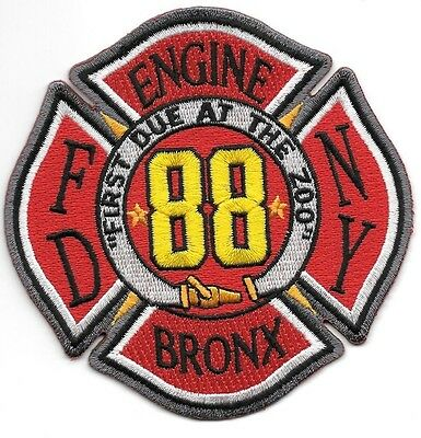 FDNY  Engine 88  fire department patch  First Due At The Zoo, Bronx