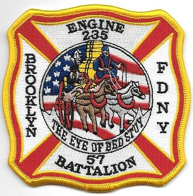 FDNY  Engine 235 / Battalion 57  fire department patch  Eye of Bed Stuy