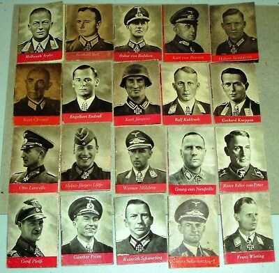 Complete Set of 20 WHW Heroes of the Wehrmacht Mini-Books from 1943 - C/A p 89