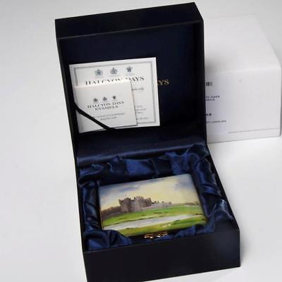 Halcyon Days 'castle Of Mey' By Keith Tilley Enamel Box, Limited Edition 6/50