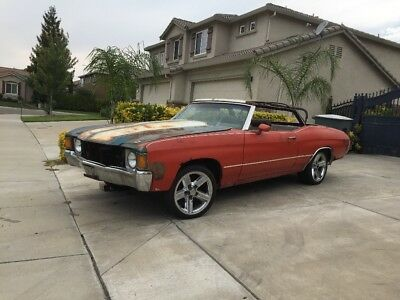 1972 Chevrolet Chevelle Convertible 1972 Chevelle Malibu Convertible (Numbers Matching)