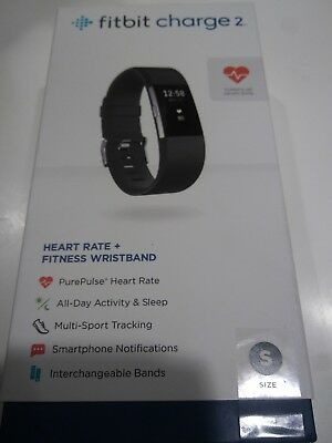 NEW!!! Fitbit Charge 2 Heart Rate and Fitness Wristband - Small - Black