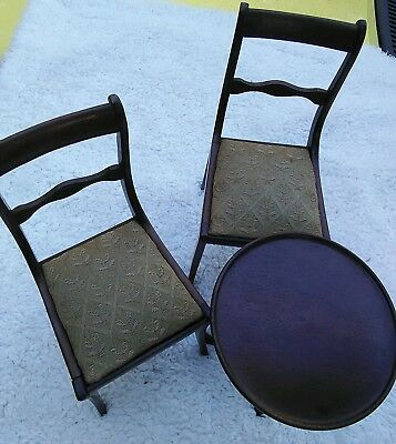 Vintage Doll Furniture Wood Dollhouse Lot Kautter NYC Chairs 4 Antique Bisque