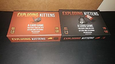 Exploding Kittens First Edition and NSFW Edition lot Kickstarter