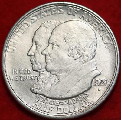 1923-S San Francisco Mint Monroe Doctrine  Silver Comm Half Free S/H
