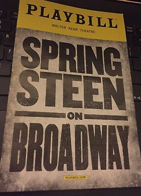 Bruce Springsteen Broadway Playbill Walter Kerr Theater New Condition