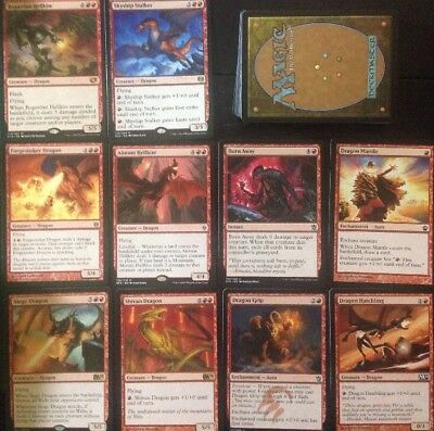 Instant DRAGON DECK! Ready To Play 60 Cards Mtg Red