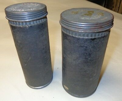 Pair Of Vintage Bell Telephone System Cardboard Tubes with Metal Embossed (Bell