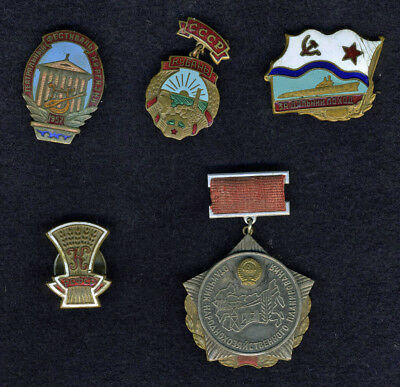 Six GOOD Collectible Soviet Badges
