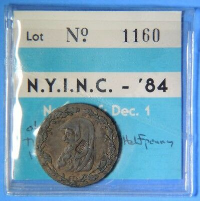 1791 Anglesey Paris Miners Halfpenny WB Counterstamp Countermark Conder Token