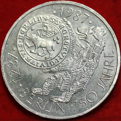 Uncirculated 1987-S Germany 10 Mark Foreign Silver Coin Free S/H