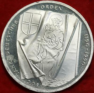 Uncirculated 1990 Germany 10 Mark Foreign Silver Coin Free S/H