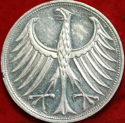 1967-G Germany 5 Mark Silver Foreign Coin Free S/H