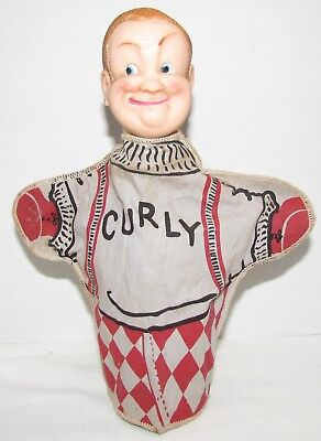 Ideal Three Stooges Curly Hand Puppet