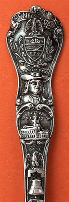 Big And Fancy Pennsylvania Sterling Silver Souvenir Spoon