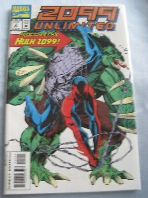 Incredible HULK 2099 UNLIMITED Marvel Comic Look Who's Back Vol 1 No 2 Oct 93 NM