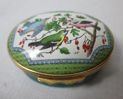 Halcyon Days Lovely Robins Egg Blue Box With Birds On Branches On Lid