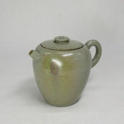A201: Popular Japanese AO-BIZEN pottery teapot for SENCHA of appropriate work