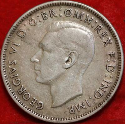 1943-S Australia Florin Silver Foreign Coin Free S/H