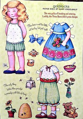 MARY ENGELBREIT Mag. Paper Doll, Goldilocks, April/May 2008, Uncut