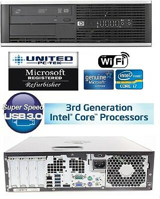 hp 6300/8300 3rd gen Core i7 Quad Windows 7/10 500GB 16GB WiFi PC Desktop