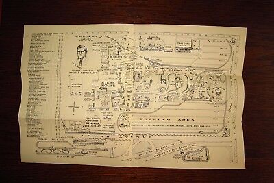 Knott's Berry Farm & Ghost Town Attractions, Shops And Park Map 1964