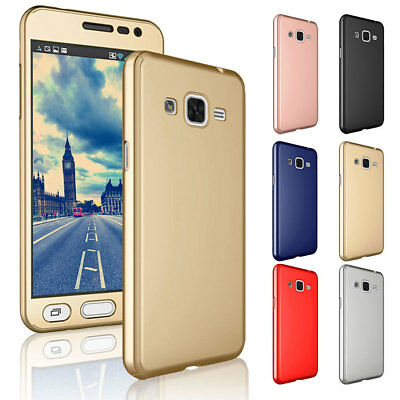 For Samsung Galaxy J2 Prime 360 Body Shockproof Hard Armor Case + Tempered Glass