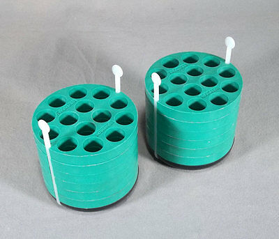 Beckman Coulter Rotor Bucket 14-Place 15ml Tube Adapters (2) 339180